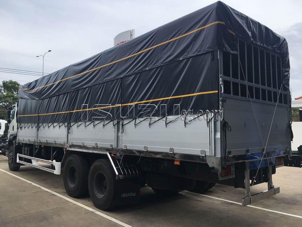 Xe Tải ISUZU FVM1500 Thùng Mui Bạt Bửng Nhôm Tải Trọng 15T