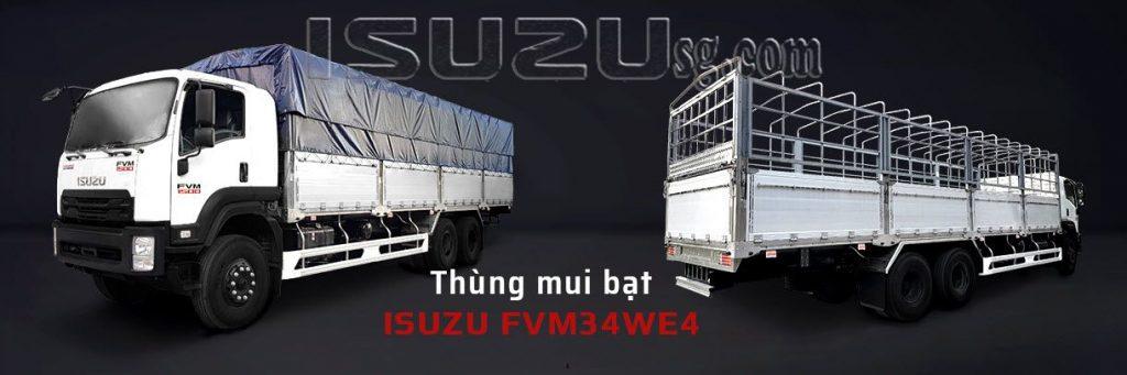 Xe Tải ISUZU 15T FVM1500 Thùng Mui Bạt Bửng Nhôm