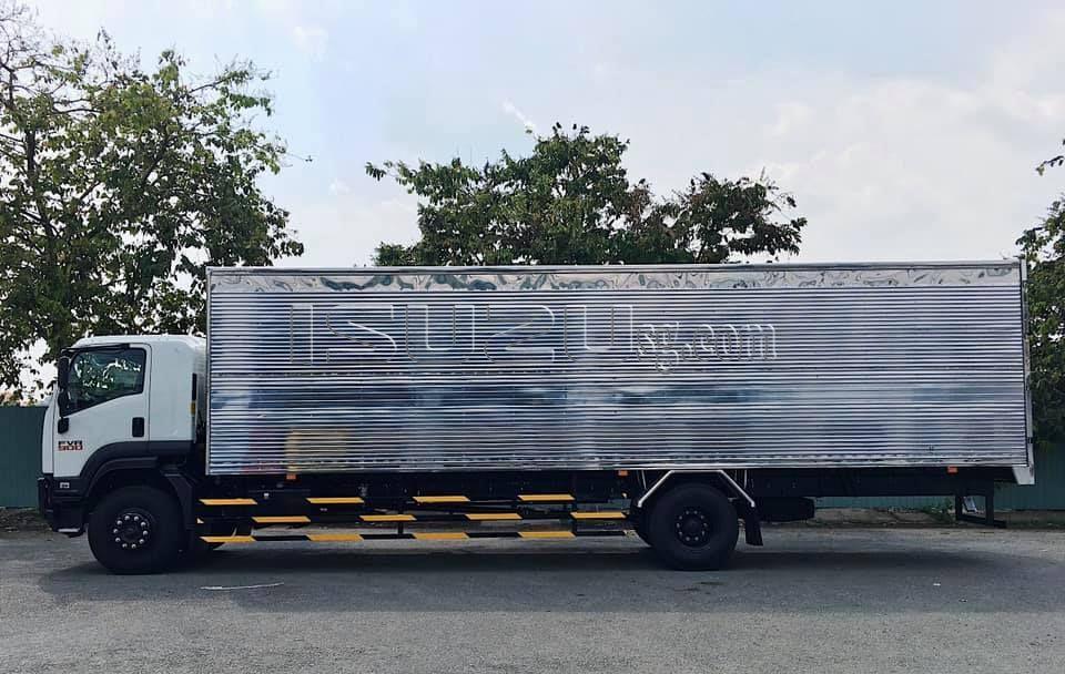 Xe Tải ISUZU FVR900 Thùng Kín Siêu Dài 9m8