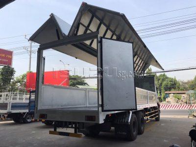 Xe Tải ISUZU FVM1500 Thùng Mở Cánh Dơi